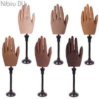 Silikon-Praxis False Hand LifeSize eingebettete Mannequin-Modell-Display-Halter-Faux mit flexiblen Fingernägeln Kunst-Trainingswerkzeuge