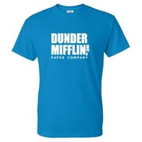 Moda TV Şovu T-Shirt Derding Mifflin Kağıt Baskılı Erkekler Casual Streetwear Tshirt Trendy Unisex Hip Hop T Gömlek Tops [rylljqg@163.com