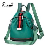 أكياس في الهواء الطلق الإناث حقيبة الظهر 2021 العلامة التجارية lism حزمة الأزياء الاتجاه فتاة طالب حقيبة رئيسي الأخضر متعددة الوظائف