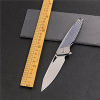 M390 powder steel outdoor folding knife camping survival hunting tool TC4 titanium alloy handle sharp high hardness tactical EDC self defense