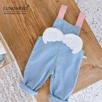 Комбинезоны lunoakvo baby girl комбинезон синий джинсовый малыш комбинезон младенческая одежда свободно детей комбинезон девочек брюки