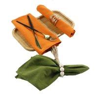 Conjunto de 4 placas de guardanapo de pano poliéster tecido de cânhamo tecendo esteira de mesa reutilizável para cozinha toalha de jantar decoração de casamento preto