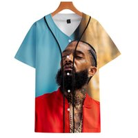 Moda Baseball Hip Nipsey Hop Print Jersey Hoodie e Vendedor Rappers T-shirt T-shirt Tees Lembrança Tee Hussle Mulheres GRA HQND