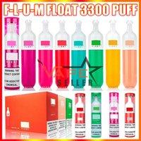 Penna vape monouso F-L-U-M float e dispositivo di sigaretta con batteria da 1100 mAh 8ml Pod premilled Pod 3300 Flume Flume Fumo VAPES