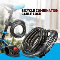 Blocchi bici 1.2m Blocco biciclette 5 Digital Code Combinazione Seconda Set Post Monting Steel Cycling Roby