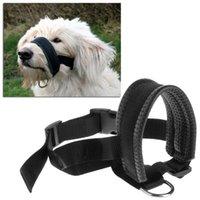 Dog Collars Smycze Pet Regulowany Usta Kufa Wyściełana Head Collar Delikatne Halter Leash Leader Anti Ugrywanie Przestań Ciągnąć narzędzie szkoleniowe dla C42