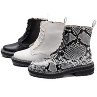 Boots Plus Size 43 Winter Warm Plush Ankle For Women Genuine Leather Shoes Lace Up Short Ladies Booties Botas De Mujer YE151
