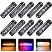 베스트셀러 자동차 플래시 램프 12V-24V 방수 6LED 스트로브 조명 트럭 비상 플래시 여러 가지 빛깔의 경찰 램프