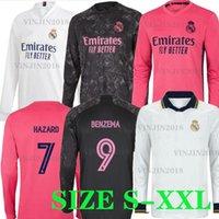 20 21 real madrid long sleeve lcon retro jerseys soccer women 2021 Casemiro hazard BENZEMA modric bale football shirt mujer feminine camiset