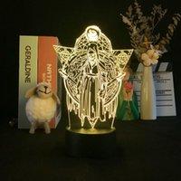 Decorative LED Night Light Anime Bleach Atmosphere 3D USB Lamp Club Hotel Party Nightlight Lava Base Kids Fans Birthday Gift