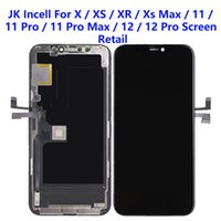 For iPhone XS XR 11 12 Pro Max LCD Panels Used to repair phone display JK Incell Quality Touch Digitizer Screen Assembly Replacement Gifts Tempered glass film & tools