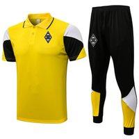 2021 2022 Borussia Monchengladbach Futbol Polo Gömlek Kitleri Erkek Eşofman Futbol Eğitim Takım Survetement Yetişkin Kısa Kollu Polos ve Pantolon Kiti Setleri