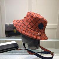 2021 Nakış Dama Tahtası Tasarımcılar Kapaklar Şapka Erkek Yüksek Kalite Ekleme Renk Kontrast Kova Şapka Luxurys Kadınlar