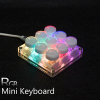 Keyboards 9 Keys Mini Macro Keyboard With Software Programming LED RGB Backlit One Handed Numpad OSU! Mac WIN 7 8 10 Outemu Gateron