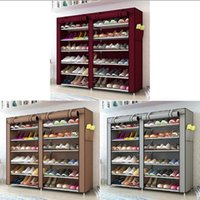 3/4/5/6/8 camadas à prova de poeira montar sapatos shoes diy home mobiliário não-tecido armazenamento prateleira prateleira corredor organizador de gabinete fhl275-zwl701