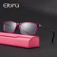 독서 안경 Elbru 초경량 남성 여성 디옵터가있는 작은 정사각형 노안의 안경 +1.0 1.5 2.0 2.5 3.0 3.5 4.0