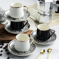 Cups & Saucers 180ml Turkish Espresso With Ceramic Cup Set For Coffee Kitchen Party Drink Ware Home Decor Creative Gifts