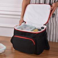 Sacos de almoço isolados térmicos Mulheres Homens Piquenique Refrigerador Bags Bento Tote Caixa Comida BBQ Gelo Beer Pack Acessórios Suprimentos 210309
