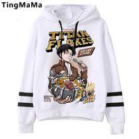 Sweatshirts Attaque sur Titan Graphic Hoodies Hommes Kawaii Japonais Anime Streetwear Harajuku Shingeki No Kyojin Dessin animé Homme