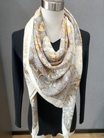 2021AW Luxury Design Scarves 135*135cm Large Scarf 70% Cashmere and 30% Silk Thick Scarfs Shawl Outdoor Pashmina Chic Lady's Muffler Female Neck Warmer