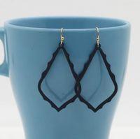 Noel Hediyesi Kendra Tarzı Sophee Alaşım Çerçeve Oval Küpe Moda Dangle Küpe Kadınlar için PS1578