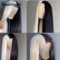 Кружевные парики половина 613 и натуральные окрашенные человеческие волосы 30 дюймов передний парик прямой высокой плотности реми