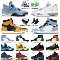 Air Jordan 1 Basketbol Ayakkabıları erkek kadın University Blue jordans 4s Beyaz Oreo Black Cat 13s Red Flint outdoor erkek antrenörü