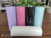 Фото 20oz Tumblers с соломой из нержавеющей стали блестящие винные кружки радуги вакуумный тумблер изолированный кофе пивные чашки для путешествий FY4373