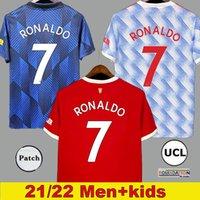 Manchester maillot de foot 2021 2022 SANCHO UNITED CAVANI UTD VAN DE BEEK B.FERNANDES RASHFORD 21 22 Maillots de football kit homme + enfants enfant HUMANRACE quatrième de la
