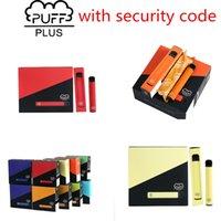 Sigarette E-sigarette monouso Puff Bar Plus Pre-riempito 800 + Pod Butt-cartucce per pod monouso 650mah Batteria da 650 ml 3.2ml Pods vape 84 colori