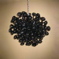 Modern murano pendant lamps W80xH80 cm lampshade led bulbs lights art deco 100% hand blown glass chandelier lighting