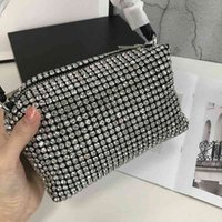 With Logo Women Handbag Trendy Brand Luxry Design Fashion Hand Bags Rhinestone Genuine Leather One Shoulder Small Square Bag with Original Packaging