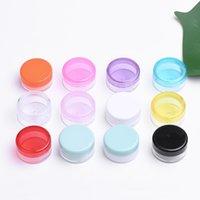 3G 3ML 5G 5 ML ronde kleurrijke heldere plastic cosmetische container met schroefdop crème wax olie pot lip balsem pil opslag flacon fles 396 s2