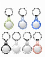 Transparent Cover for Air tags Key Ring tracker Accessories TPU Anti-scratch Protective Shell Keychain Apple Airtag case