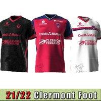 21 22 Maillotlar Clermont Foot 63 Futbol Formaları Eve Uzakta Üçüncü 2021 2022 Bayo Dossou Allevinah Berthomier Magnin Iglesias Futbol Gömlek Söyleyin Top Tayland