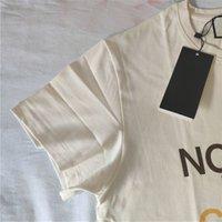 108555 Летняя мода классический бренд роскошный дизайн универсальная буква печати досуга свободные женщины мужчины совместно подписали футболку север 210317