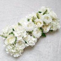 인공 작약 장미 수국 행 결혼식 배경 가짜 꽃 벽 장식 DIY 조합 결혼식 아치 정렬 210317
