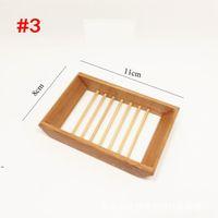 5 Styles Natural Bamboo Soap Holder Creative Environmental Protection Natural Bamboo Soap Dish Drying Soap HolderDWD8517
