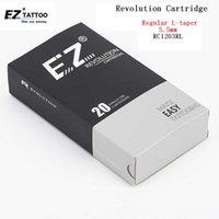 EZ Revolution Cartridge Tattoo Igły # 12 0.35mm Okrągły Liner RC1201RL RC1203RL RC1205RL RC1207RL RC1209RL 11/14 / 18RL 20 sztuk / partia 210608