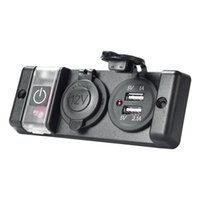 Pre-Wired 12V Breaker Switch Panel Dual USB-Buchse-Ladegerät 2.1A / 1A mit LED-Indikator-Zigarettenanzünder für Auto ATV-Teile