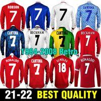 1984 86 Retro Giggs Jerseys 91 92 93 94 Mann Beckham Kantona 95 96 97 98 99 Scholes Ronaldo Fussball Jersey Utd Solskjaer 05 06 07 08 Fußball-Hemd