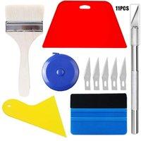 Professional Hand Tool Sets Window Tinting Car Tools Kit Carbon Fiber Covering Film Install Rubber Scraper Squeegee Vinyl Sheet Foil Wrap Cu