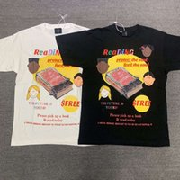 Tops Kanye Feed Your Soul Reading Vintage T-shirt Fashion Casual Tea Men Women Hith Quality T-shirt Short Mouw