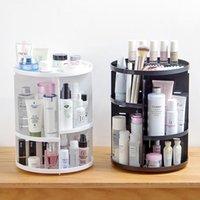 Tenmiu Rotating Cosmetic Storage Rack Box Skin Care Desktop Dressing Table Plastic Cn(origin) Boxes & Bins