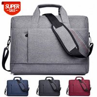 Simple solid color laptop bag, flat liner handbag, messenger briefcase for men and women #Qd7V