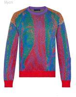 Мужские свитера Высочайшее качество 20ss цвет соответствует жаккардовому криво свитер свитер толстовка улица мужчины женщины вязание пуловер толстовки осень зима теплый