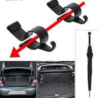 2Pcs Set Umbrella Holder Trunk Organizer Car Rear Mounting Bracket Towel Hook