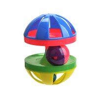 Игрушки для кошек мяч с кольцом колокольчики, играющие жевание царапина пластиковый шар интерактивный кошка тренировки игрушки для домашних животных CCF7777