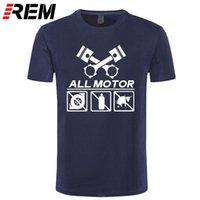 Одежда мужская машина моторного автомобиля Rapinger футболка T-Shits Печать с короткими рукавами повседневная вырезок хлопчатобумажные крутые летние тройники футболки