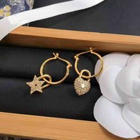Christian Dio Women Fashion Retro Personality Hip for Pearl Simple Sweet Earrings Summer Hop Charm Jewelry Holiday Gift with Box